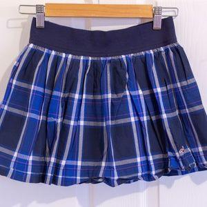 Hollister Blue Plaid Mini Skirt Small